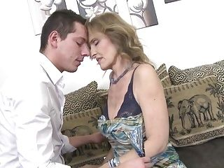 Hawt aged sex with obscene mommy and son