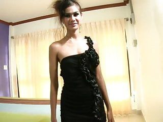 Youthful slim oriental legal age teenager