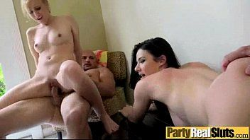 Group sex tape with whore nasty party cuties video-24