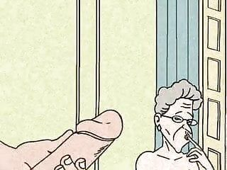 Granny cant live without anal sex large animation