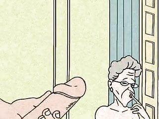 La nonna non può vivere senza una grande animazione del sesso anale