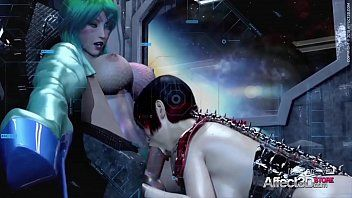 Cg animated shemale hentai hotties having trio in a space station