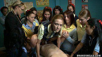 Schoolgirl engulf off - brandi belle