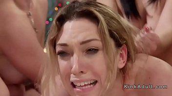 Sexy bionda lesbo anale team-scopata