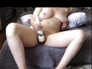 Non-professional wife cums hard watching lesbo porn